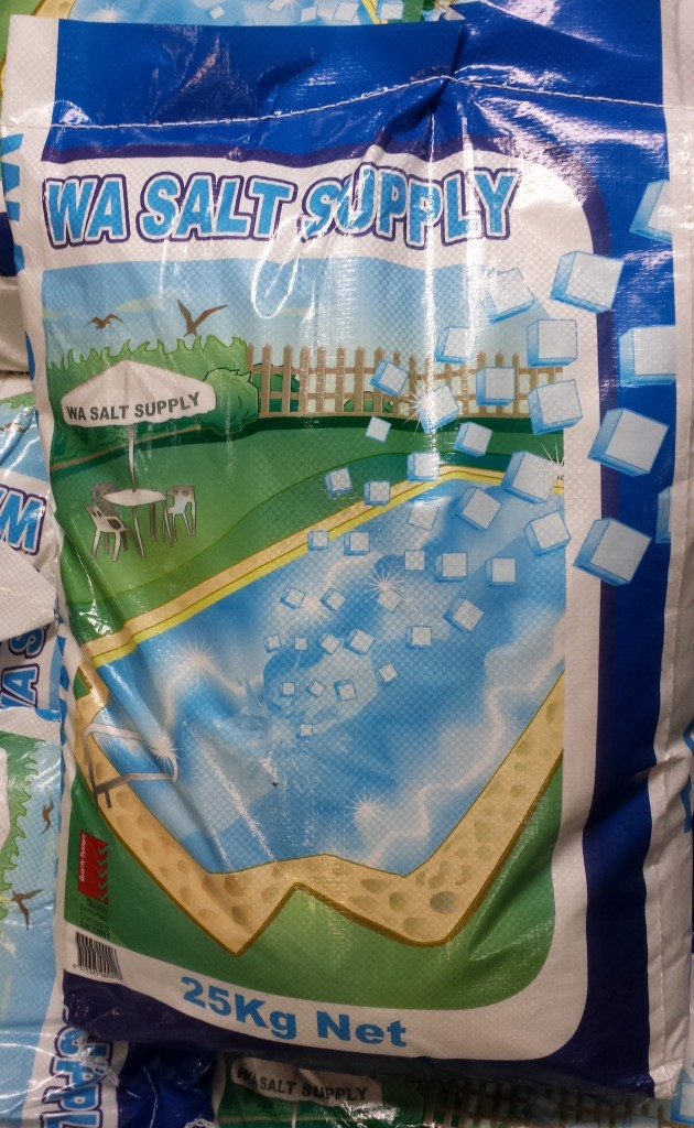 Pool salt bag